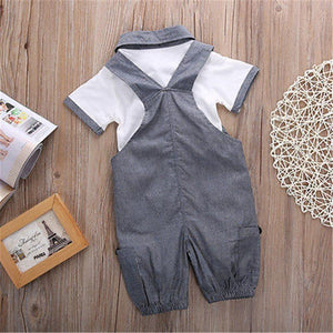 Short Suspender Gentleman Outfit - Bitsy Bug Boutique