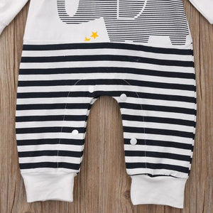 Striped Elephant Romper - Bitsy Bug Boutique
