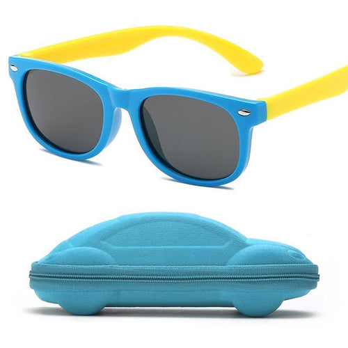 Silicone Safety Sunglasses with Car Case (Multiple Colors)