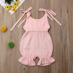 Sleeveless Ruffle Short Romper - Bitsy Bug Boutique