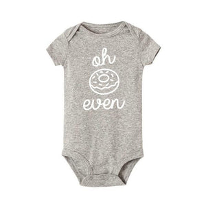 Oh Donut Even Onesie Gray/white / 12 Mo