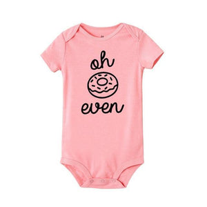 Oh Donut Even Onesie Pink/black / 12 Mo