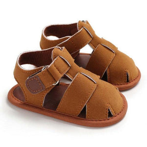 Boy Brand Sandals Coffee / 0-6 Mo Shoes