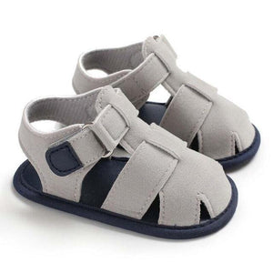 Boy Brand Sandals Gray / 0-6 Mo Shoes
