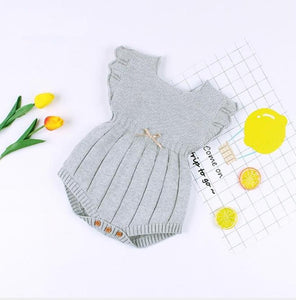 Knitted Pearl Romper - Bitsy Bug Boutique