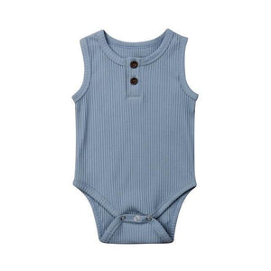 Casual Cotton Onesie (Multiple Colors) Blue / 3 Mo