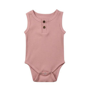 Casual Cotton Onesie (Multiple Colors) Pink / 3 Mo