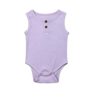 Casual Cotton Onesie (Multiple Colors) Lilac / 3 Mo