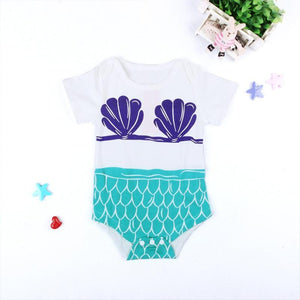 Mermaid Shell Onesie - Bitsy Bug Boutique