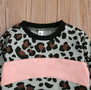 Sweet Heart Leopard Print Outfit