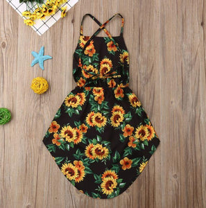 Lace-Up Floral Sundress (2 Colors)