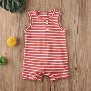 Sleeveless Striped Romper (5 Colors)