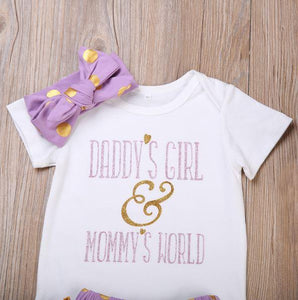 Daddy's Girl Mommy's World Outfit Set