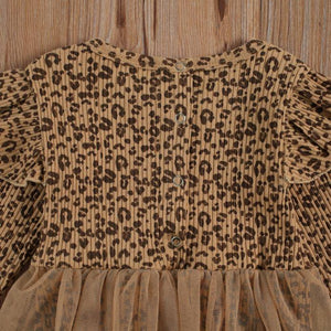 Leopard Romper Dress with Bow
