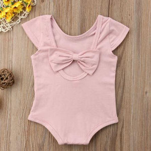 Back Bow Onesie (Multiple Colors)