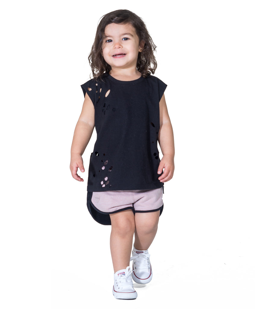 Ripped Holes T-Shirt For Kids