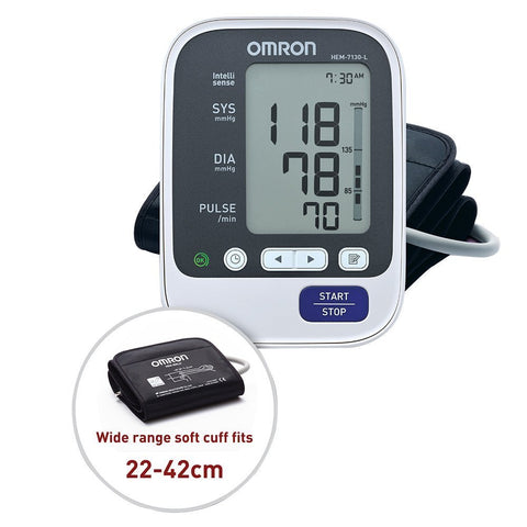 OMRON BLOOD PRESSURE MONITOR HEM 7130L - QMS Surgicals