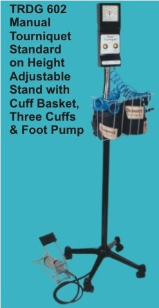 Manual Tourniquet on Height Adjustable Stand with Cuff Basket : TRDG 602 DIAMOND