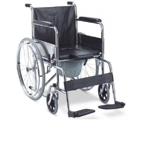 RAINBOW 6 COMMODE WHEEL CHAIR - QMS Surgicals