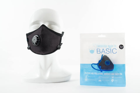 Cambridge Basic Black Anti Pollution Mask - QMS Surgicals