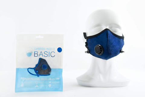 Cambridge Basic Mask Navy Anti Pollution Mask - QMS Surgicals