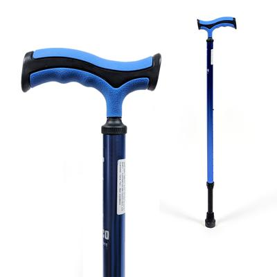 Avanti Plus T-Shape Walking Stick (Aluminium, Black/Blue) - QMS Surgicals