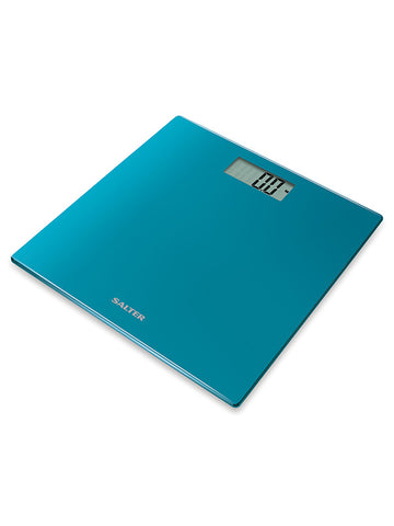Salter 9069-TEAL Salter Ultra Slim Glass Electronic Digital Bathroom Scales - QMS Surgicals