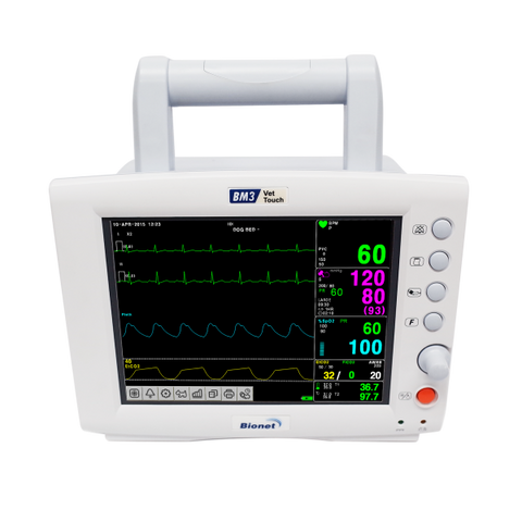 Bionet BM3 Vet Touch ,  Clear Display and versatile Patient Monitor