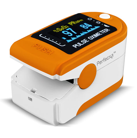 Perfecxa Fingertip Pulse Oximeter (MODEL NO. CMS50D) - QMS Surgicals