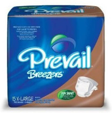 Prevail Breezers-Waist Size 59 To 64 Inches Adult Diapers - XL