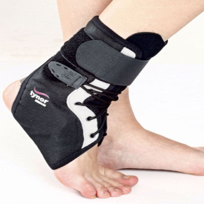 Ankle brace is designed to support, stabilize, and limit the range-of-motion of the ankle joint