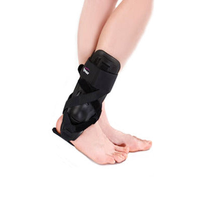 ynor D-26 Ankle Splint is designed to immobilize, support and stabilize the ankle joint in injury, or offer protection to people prone to ankle injuries. Rigid exoskeleton shell design gives better protection and control of the inversion or aversion of the ankle.
