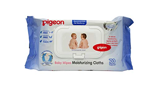 Pigeon Baby Moisturizing Wipes 70 Sheets