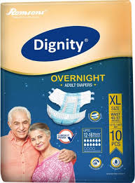 Dignity Overnight Adult Diaper XL - QMS Surgicals
