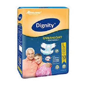 Dignity Overnight Adult Diaper L - QMS Surgicals