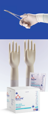 surgical gloves ,  ultra nulife beadless gloves