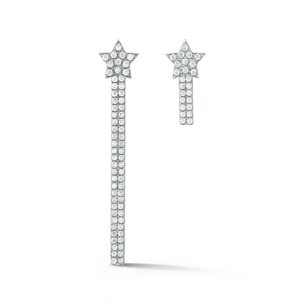Rising Star Diamond Logo Earrings