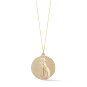 Cat Gold Plate Charm Necklace without Stones