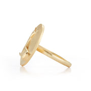 Doe Gold Plate Ring without Stones
