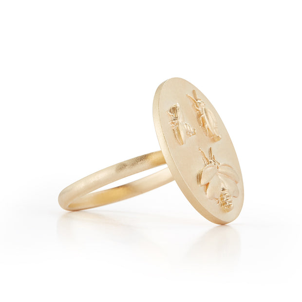 Firefly Gold Plate Ring without Stones