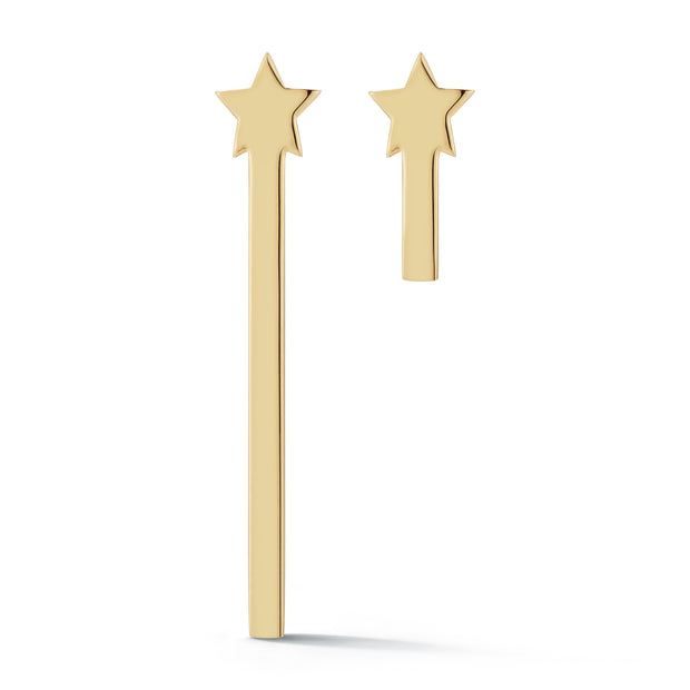 Rising Star Solid 14K Gold Logo Earrings