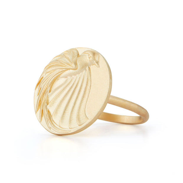 Eagle Gold Plate Ring without Stones