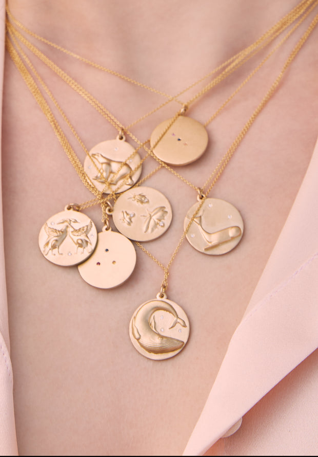 Swan Charm Chain Necklace