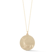 Doe Gold Plate Charm Necklace without Stones