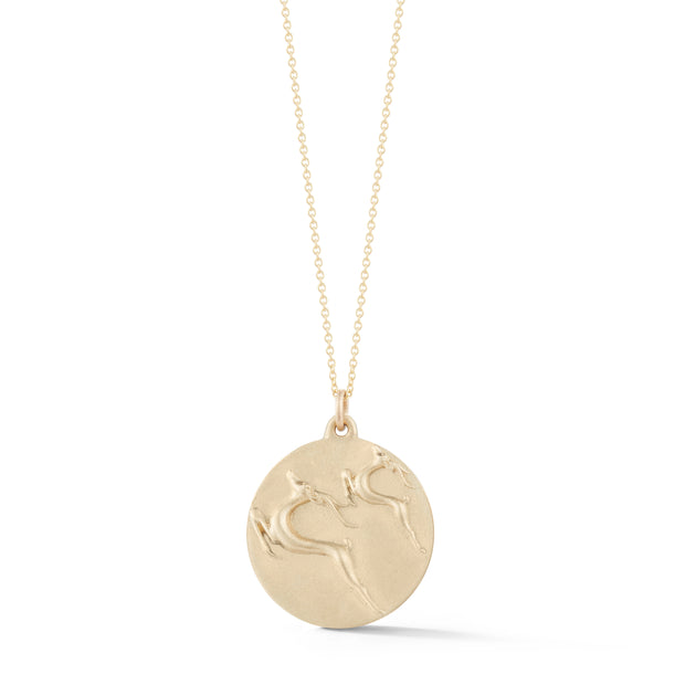 Gazelle Gold Plate Charm Necklace without Stones