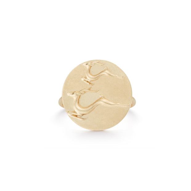 Gazelle Gold Plate Ring without Stones