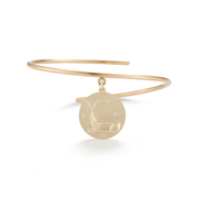 Doe Solid 14K Gold Charm Bangle with Diamonds