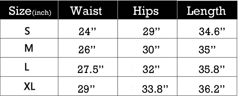Wepmi Size Guide