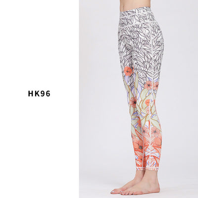 Colorful pattern printed leggings