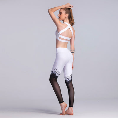 Fire Within Printed Meshed Leggings